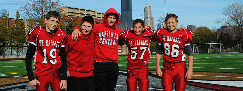 Connor and football friends